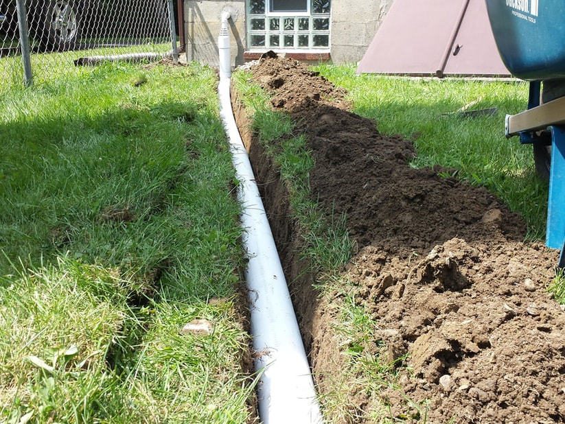 sump pump, underground, pipe, drainage, foundation, wall, basement, waterproofing, drainage,  system, installation, solution, problem, repair, fix, picture, clifton park, halfmoon, rexford, ny,