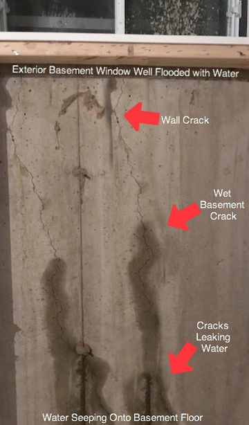 fix basement wall crack leak